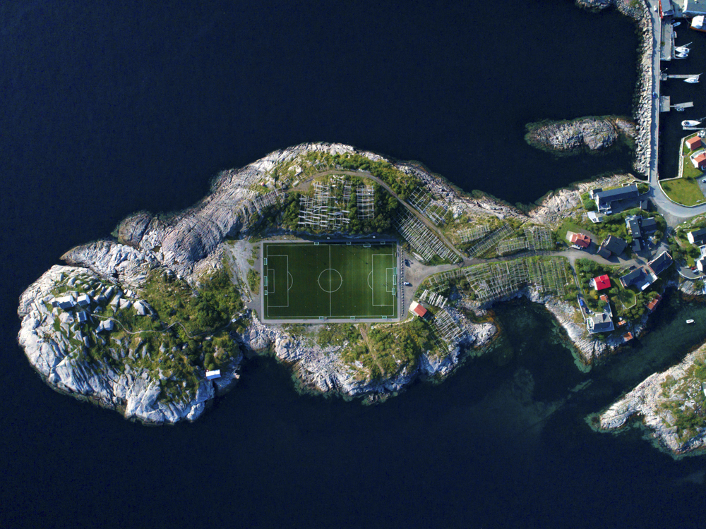 henningsvaer football pitch
