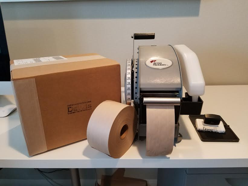 Paper tape! Photo Credit: Davids Natural Toothpaste