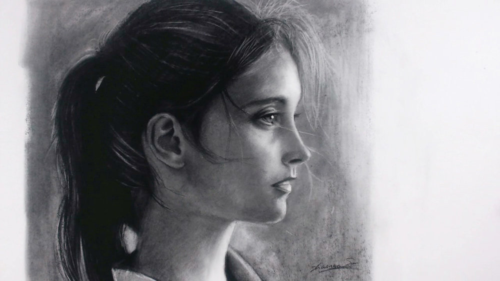 """Sold - Charcoal 18""""x16"""""""