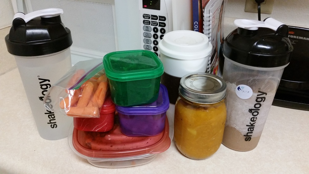 """I affectionately call my backpack a """"food transport container"""". Gotta stock up for long days on campus!"""