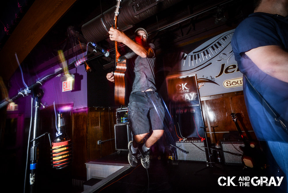 Kris Hachmeister of CK and The Gray performs at Jenny's Southside Tap in Mokena