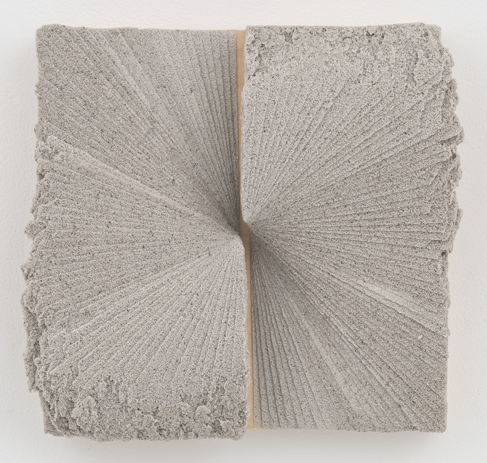 cenotaph  pumice on panel  10 inches x 10 inches (approximately)  2014