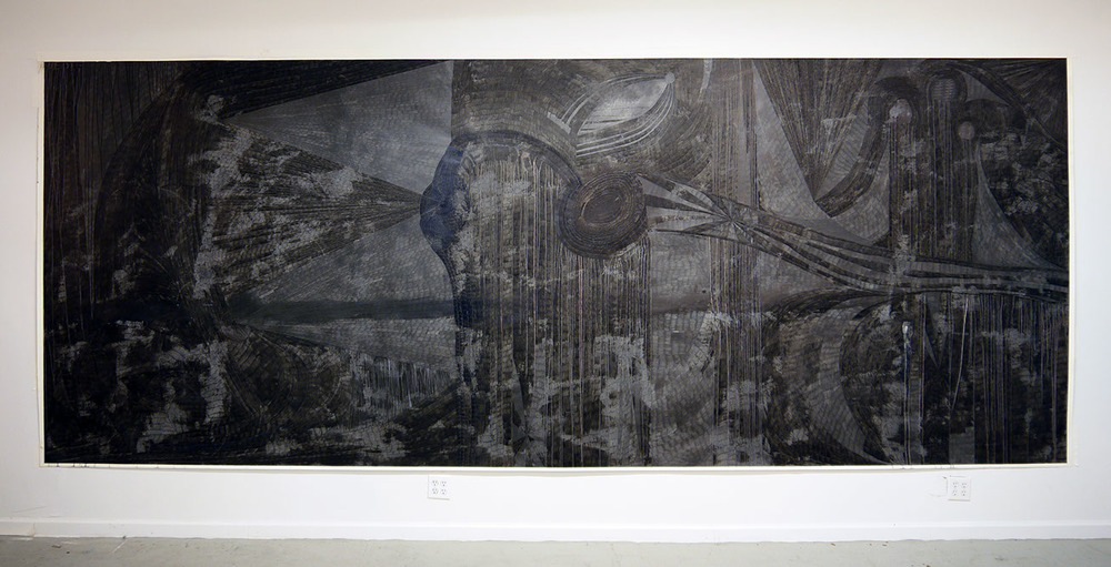 we die  pen on paper  80 inches x 220 inches  2012