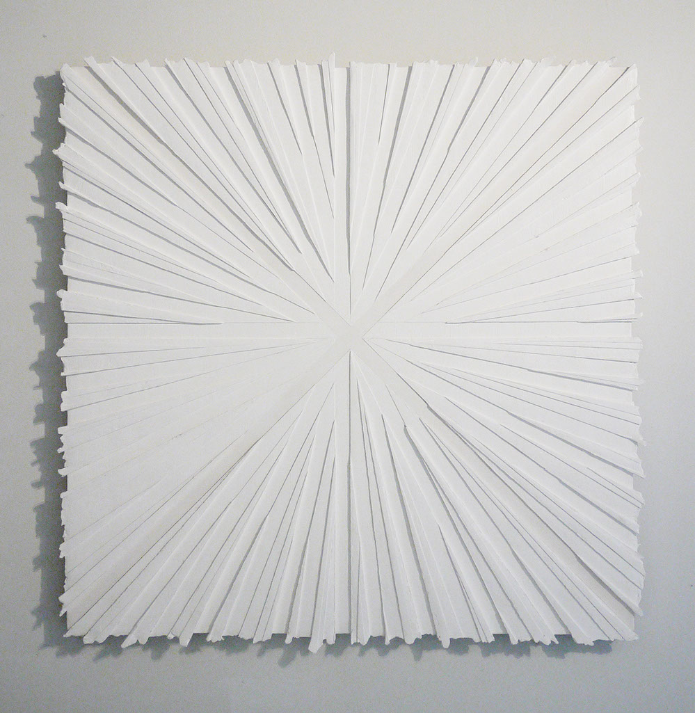 inevitability  gesso on canvas  40 inches x 40 inches (approximately)  2011