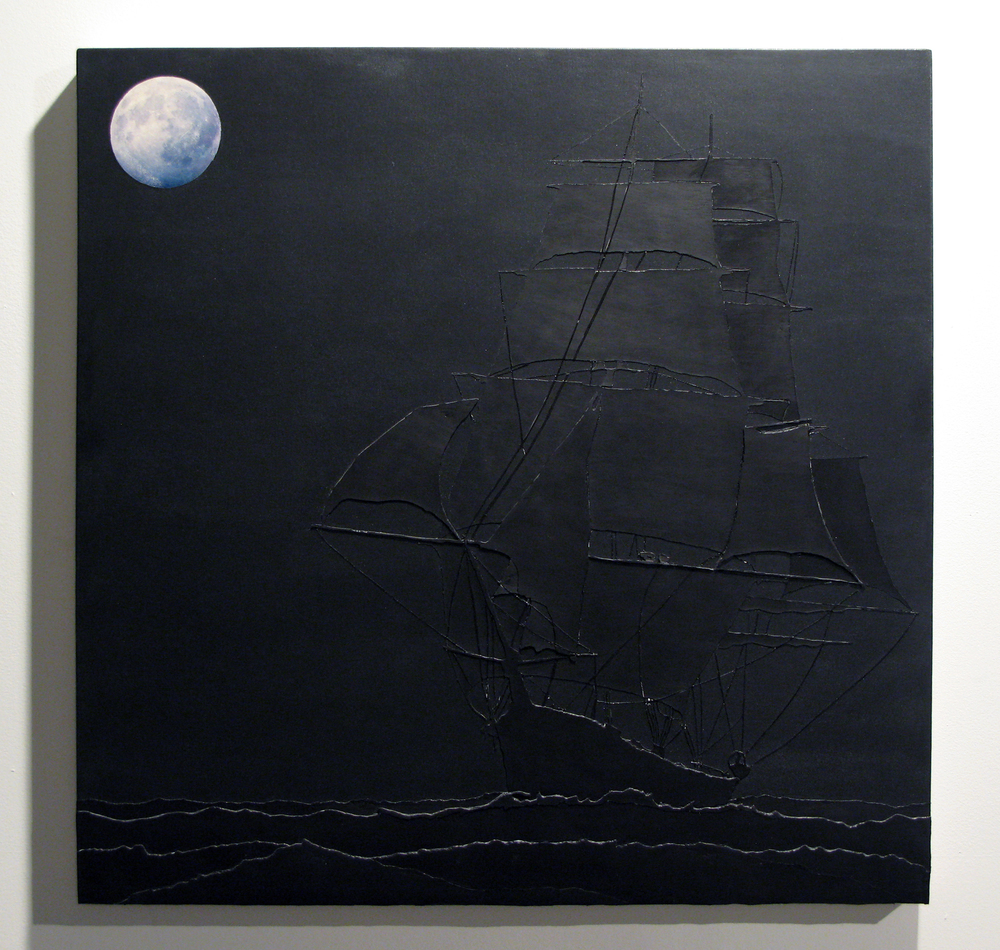 sailin' hardships  acrylic on canvas  30 inches x 30 inches  2008