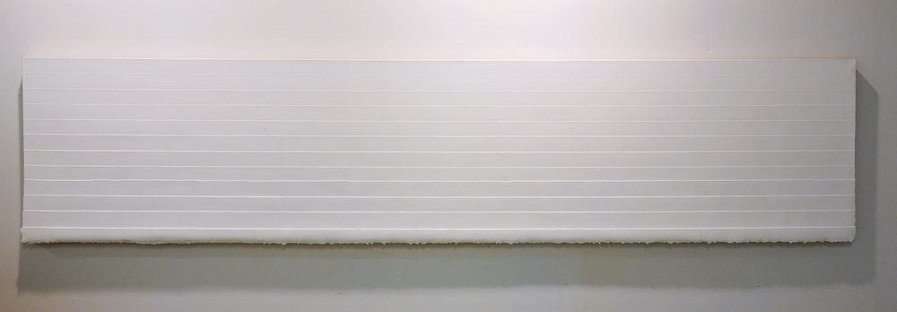 tomb  gesso on canvas  24 inches x 108 inches  2011