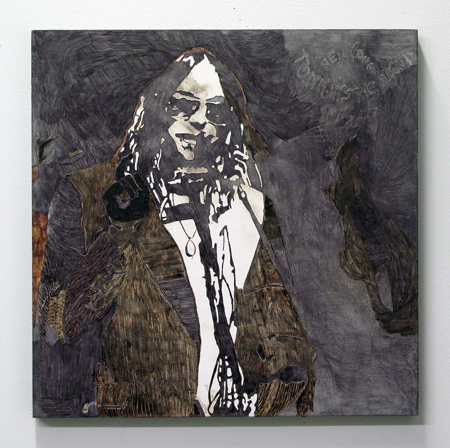 tonight's the night  ink, gesso on panel  24 inches x 24 inches  2007
