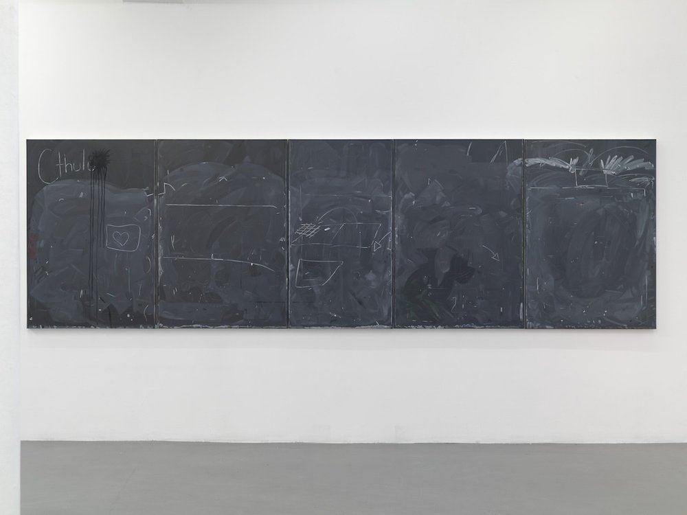 Josephine Halvorson.  Room 441.  Oil on linen. 50 x 168 inches.