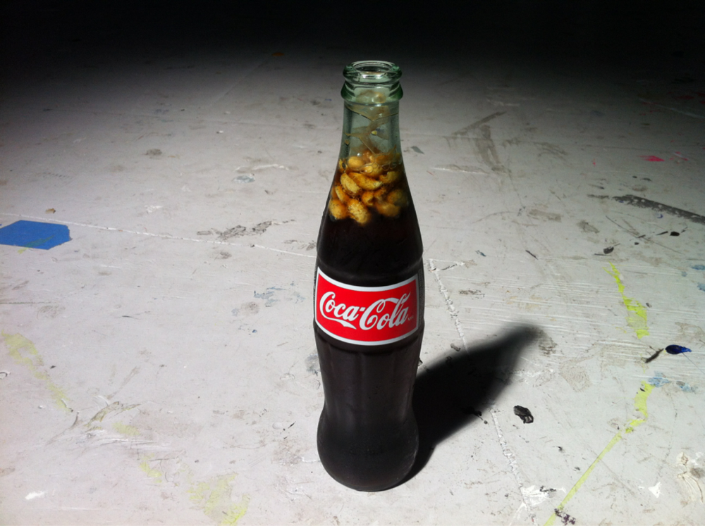 break time. Salted peanuts in my coke, just like my granpa Tootie Mac taught me. Here's to you Tootie, from your dirt road sport.