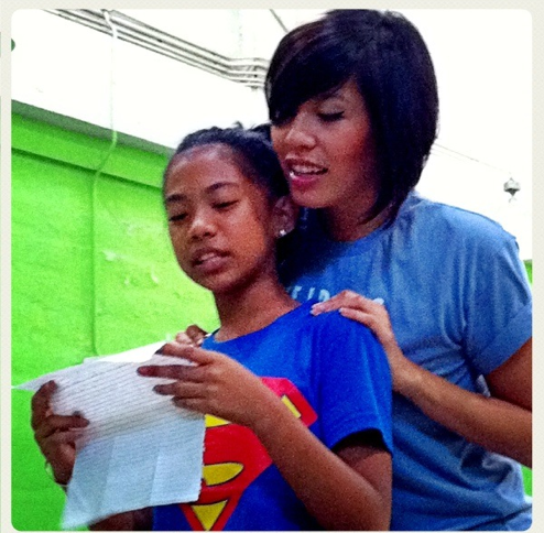 Ruby leading Girls LitClubs in Manila, Philippines