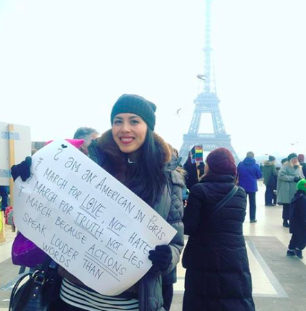 Joining in from Paris, I marched with an international community of women from the Human Rights Square in Trocadero to the Eiffel Tower.