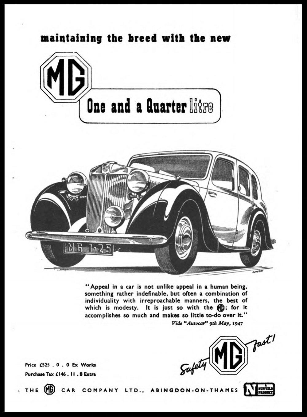 MG Triumph Sunbeam Jag - All British Cars — The Bowsing Ken
