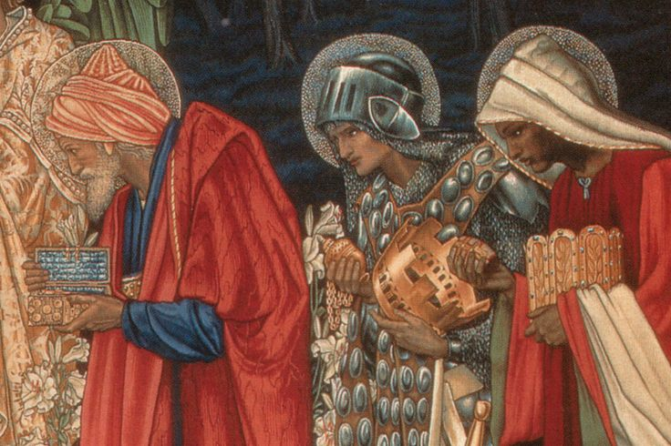 "Detail from a tapestry design: ""The Star of Bethlehem,"" by Edward Burne-Jones (1890)"