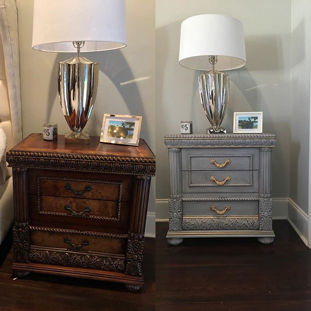 Nothing like an inspiring before and after!  This was my first time using @lisarickertnola 's newest #brainchild @joliepaints 🤗 It did not disappoint✌🏻#rethinkyourfurniture #paintedfurniture #eljfinefinishes #alwayshandpaint