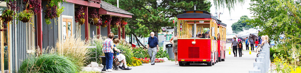 The Waterfront trolley has 7 stops throughout the Hamilton Harbourfront - Photo from  Tourism Hamilton