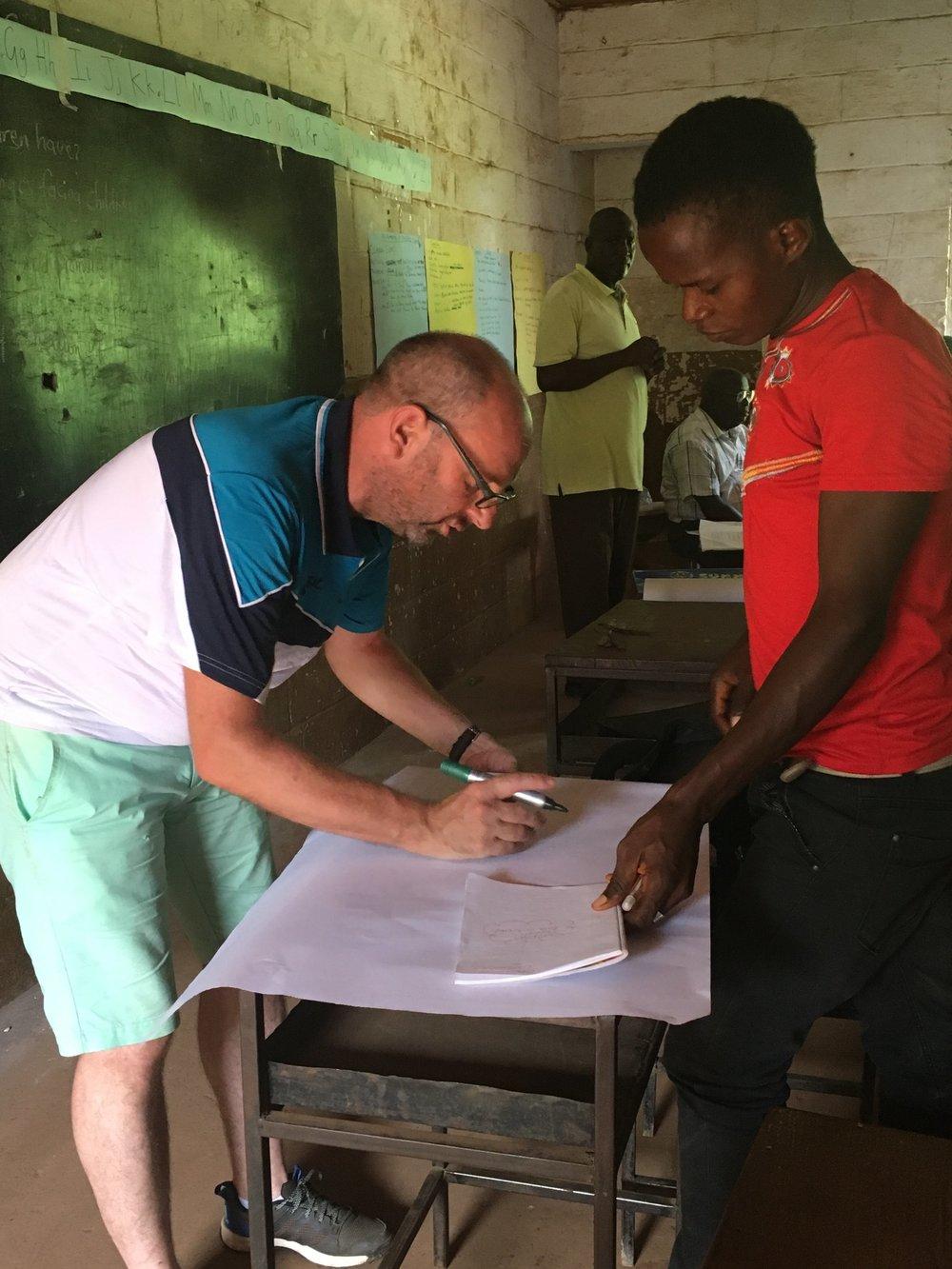 Dave, Teacher Training Experience - Sierra Leone