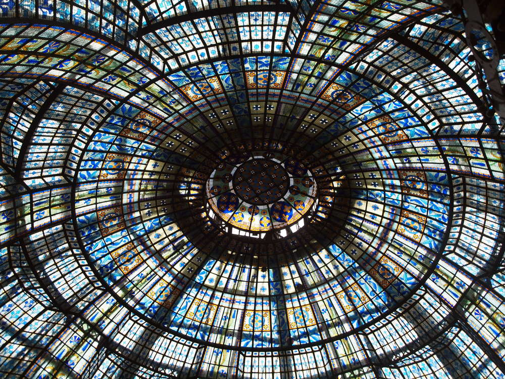 Art Nouveau glass dome