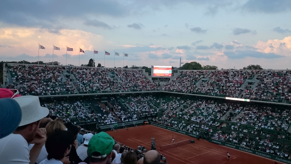 French open - bought 25 EU tickets and got into the main courts worth around 300 EU, but only got to see a few sets before it started to rain and they postponed the game  DJOKOVIC vs MURRAY