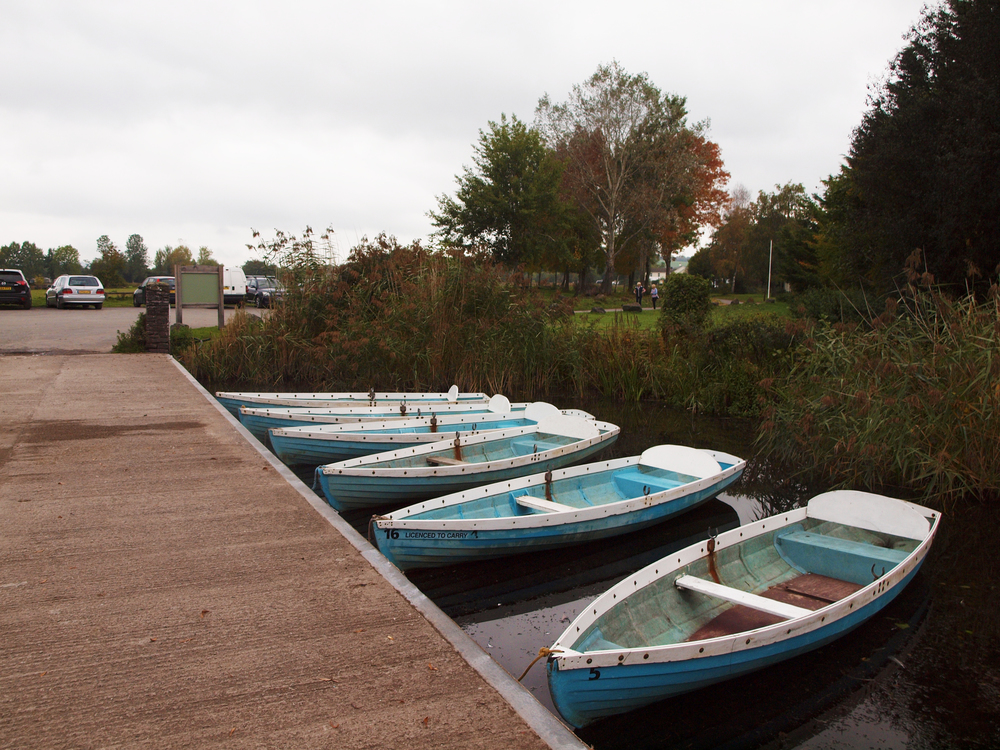 Boats near the camping site