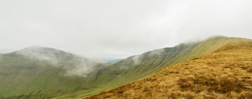 Panoramic view of the mountains which didn't last long before clouds covered the whole mountain again