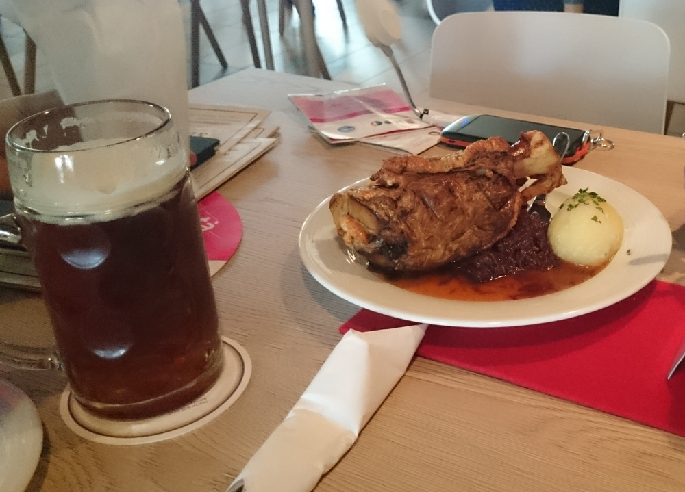 German Schweinshaxe (pork knuckle)
