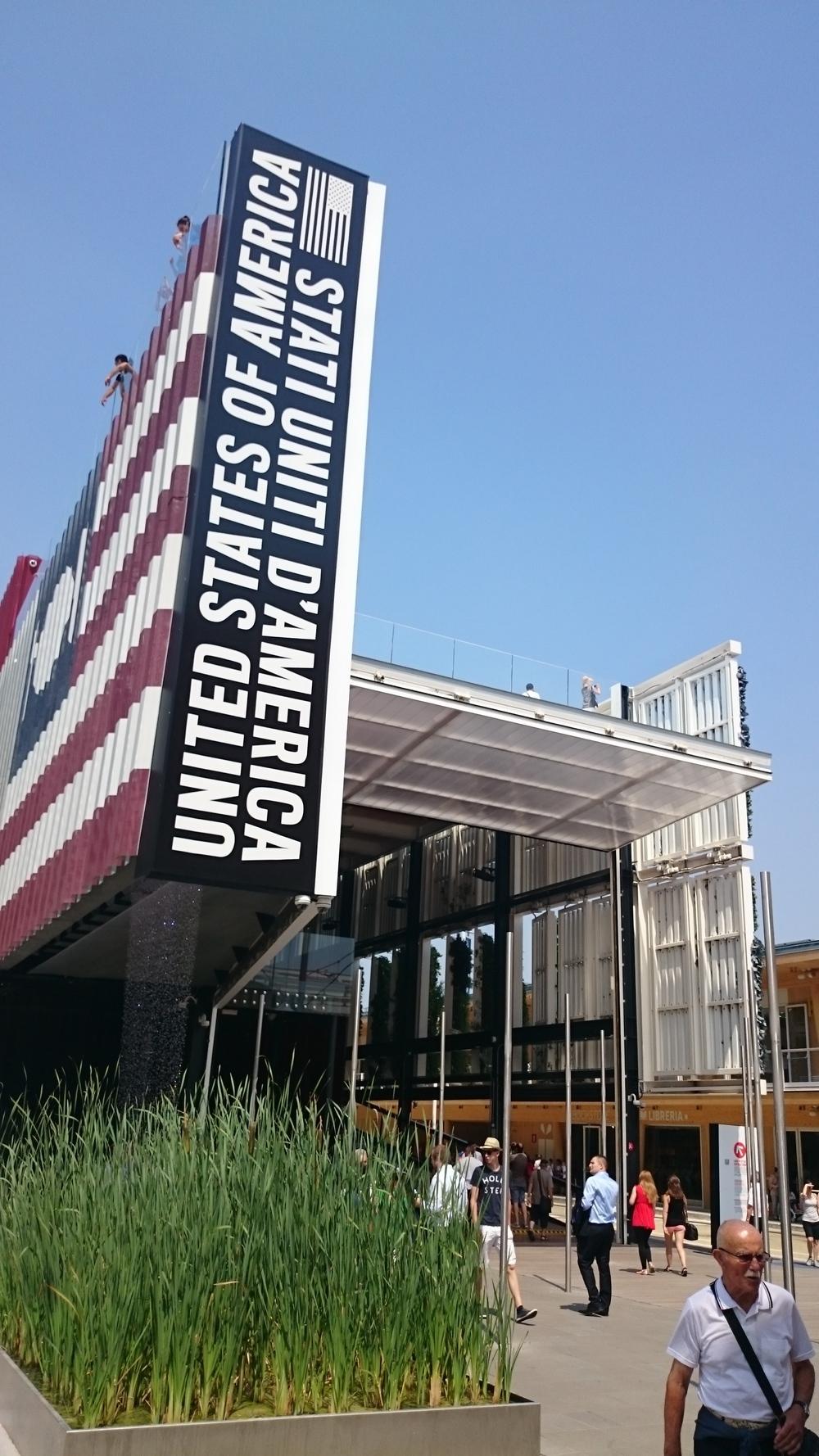 U.S.A pavilion nearby