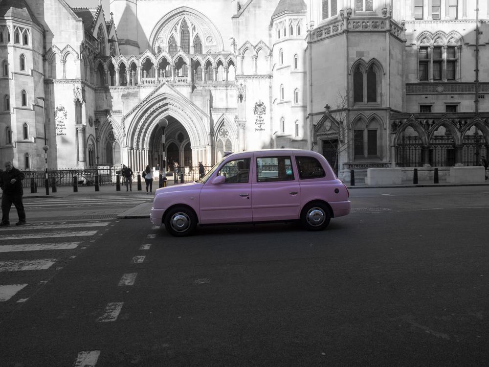 Pink cab car