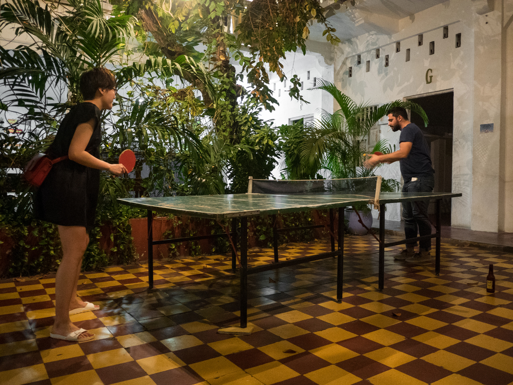 Ping Pong table at our hostel