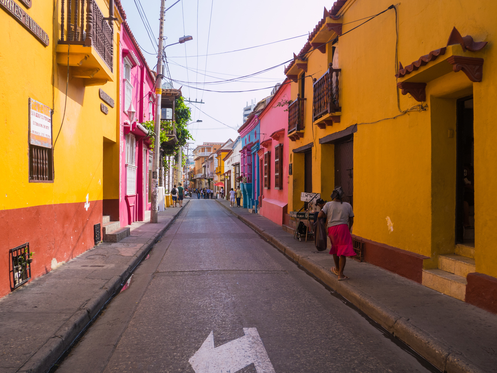 Beautiful streets of Cartagena