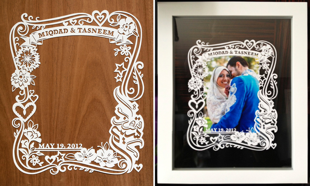Papercut Photo Frames — MadebyJulene. Papercut Art and Illustration ...