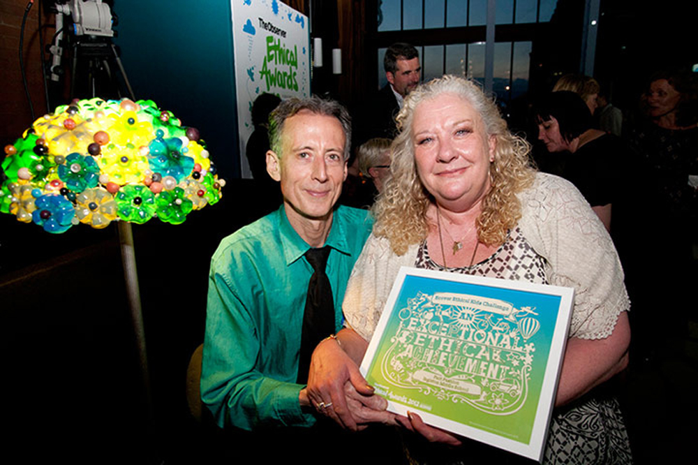 Peter Tatchell observer ethical awards papercut trophy