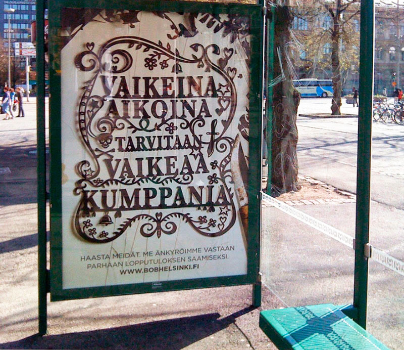 papercut poster in finland