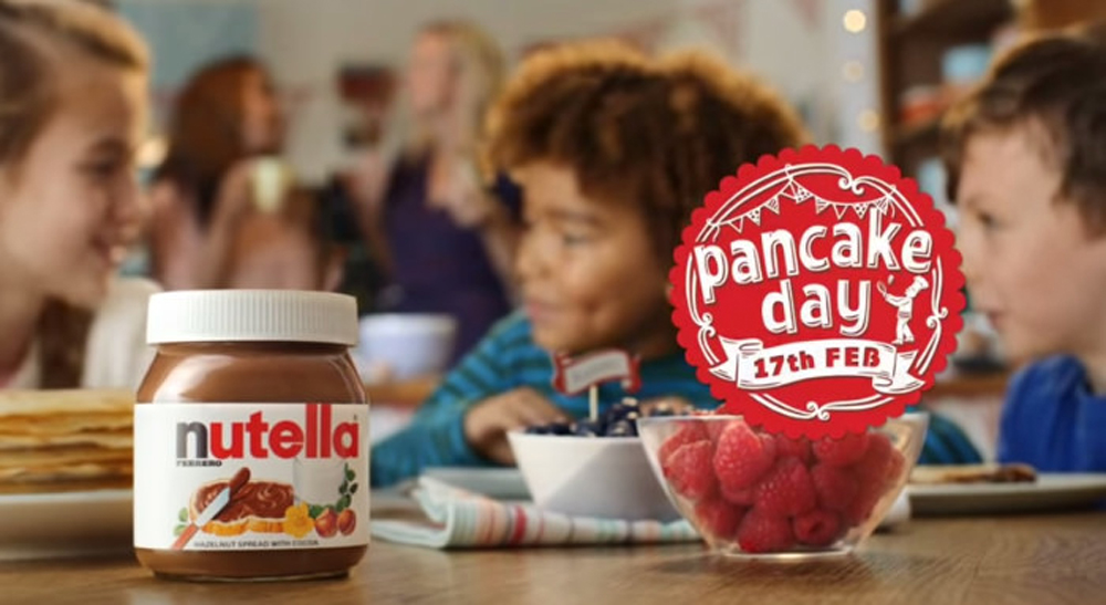 papercut illustration for nutella pancake day tv spot