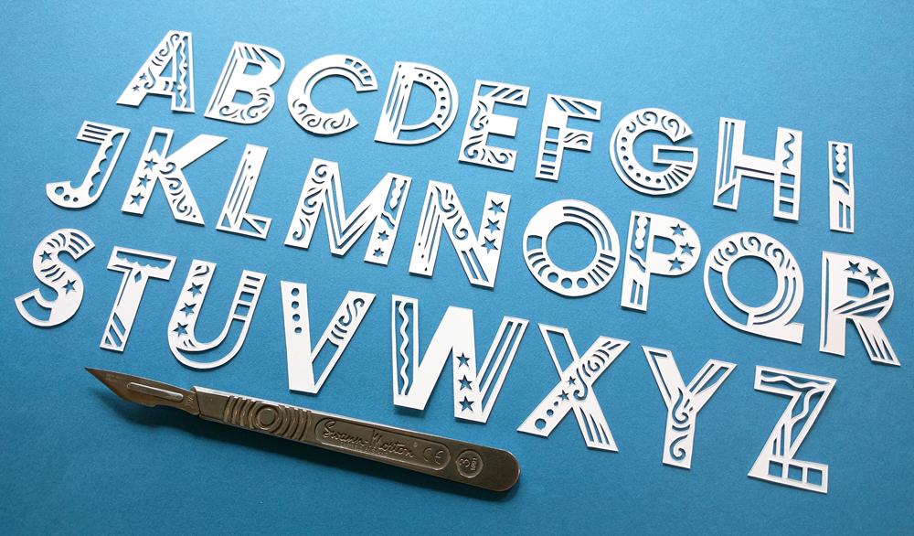 papercut-typeography-julene-harrison