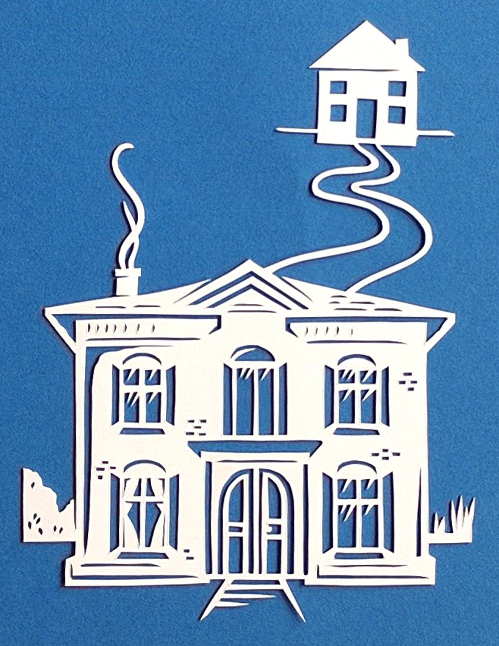 papercut-illustration-blue-house