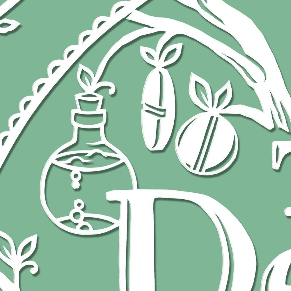 papercut-illustration-bottle-pills-leaves