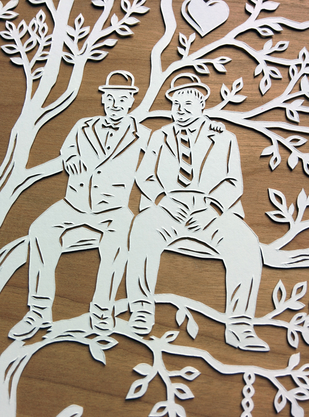 papercut-illustration-laurel-hardy