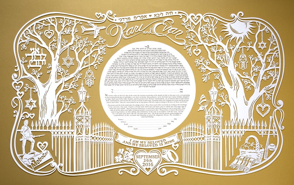 papercut-ketubah-gold-tree-modern
