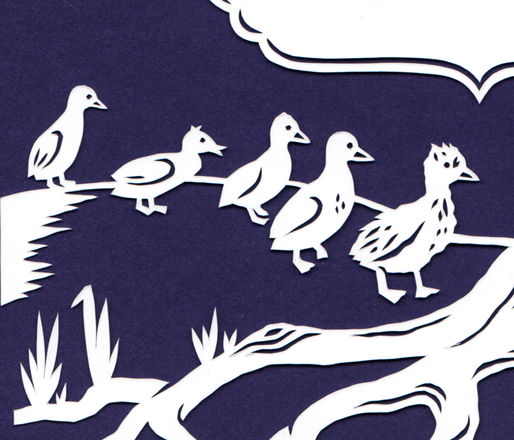 julene-harrison-papercut-illustration-ugly-ducklings