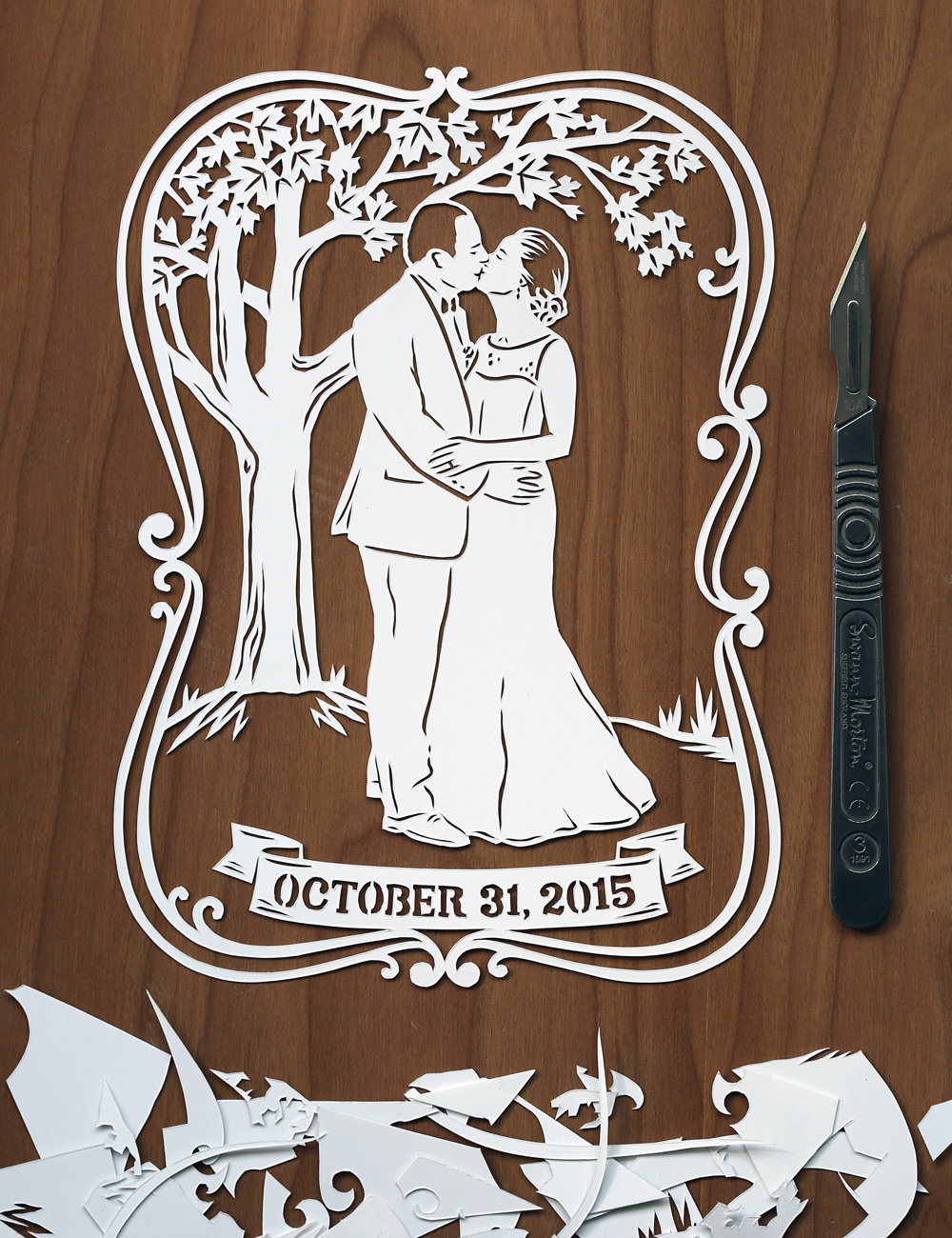 papercut-illustration-julene-harrison-anniversary-portrait