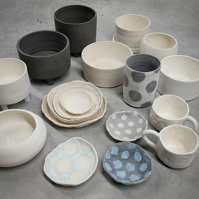 Haul. Varying degrees of doneness. #pottery #ceramics #lowfire #bisque #glaze