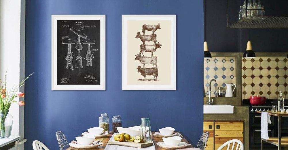 Deze exemplaren passen perfect boven de eettafel of in de keuken