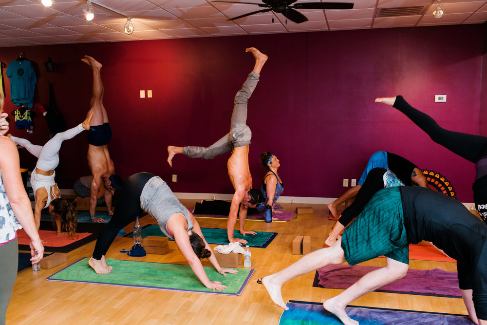 LEVEL 2 This class is designed for intermediate to advanced students who are transitioning from Level 1-2 classes.  Students can expect a fun, funky, challenging flow designed to inspire and push them past perceived limits. This class is held in our Hot Studio and is a heated practice.