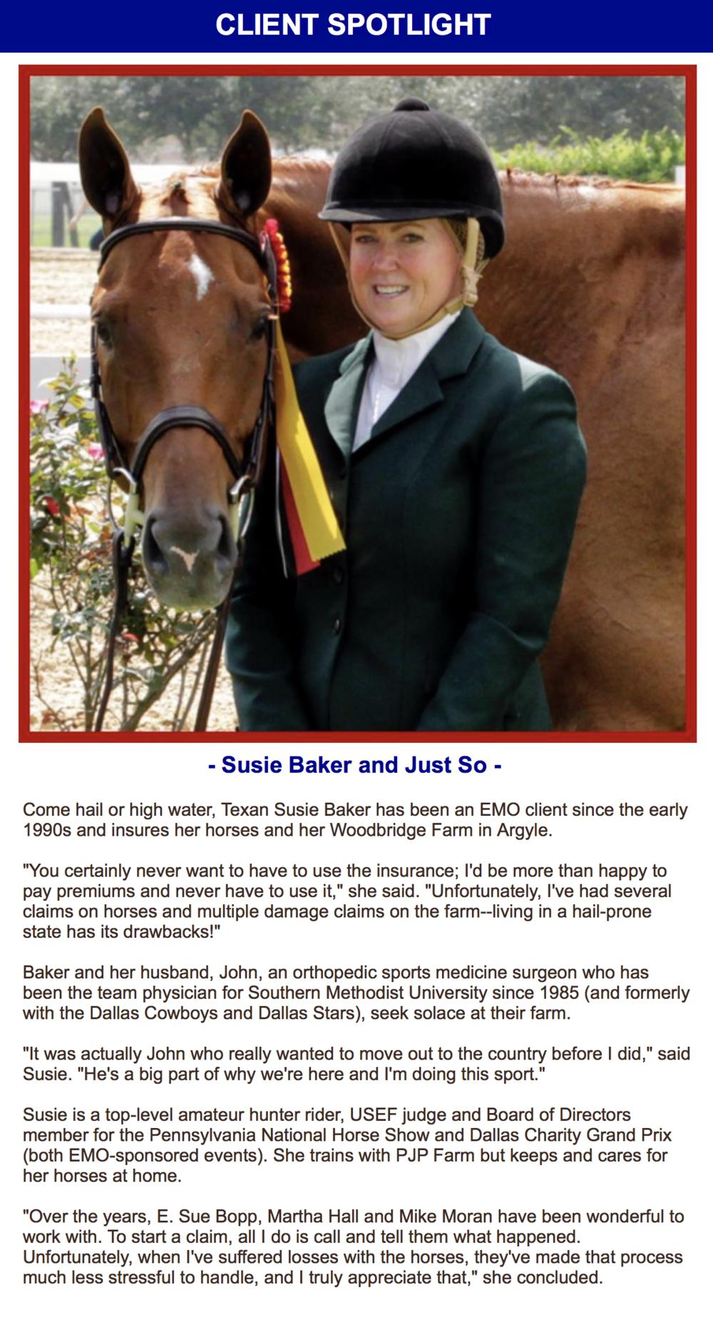 EMO Client Spotlight Susie Baker