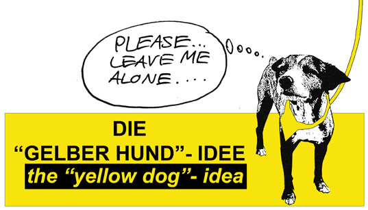Gelber Hund Yellow Dog Gulahund