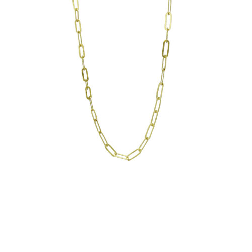 gold thin chain necklace