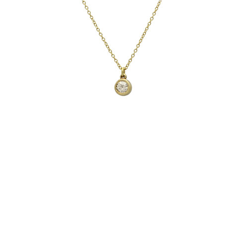 forevermark jewelers pendant round bail necklace solitaire double diamond white gold king and cfm detail