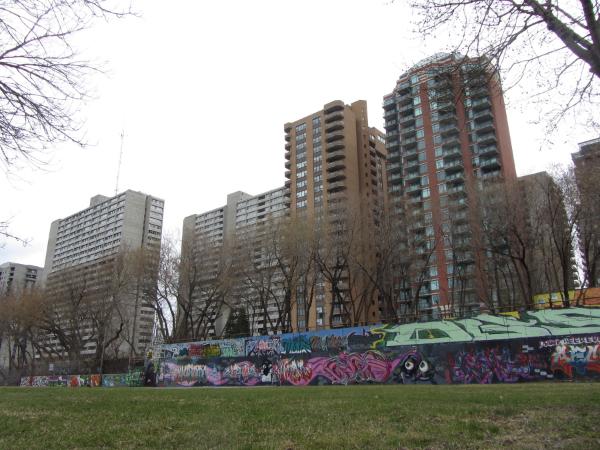 "Image: ""The Tech Wall"" off Slater Street in Ottawa  Source:  Intergraff - International Graffiti Archive"