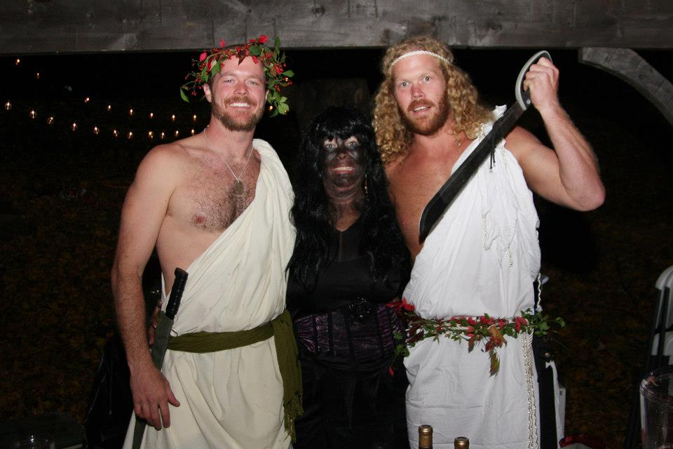 L to R Doug White, Laurie White and William White 2012 WOW Halloween Party.jpg