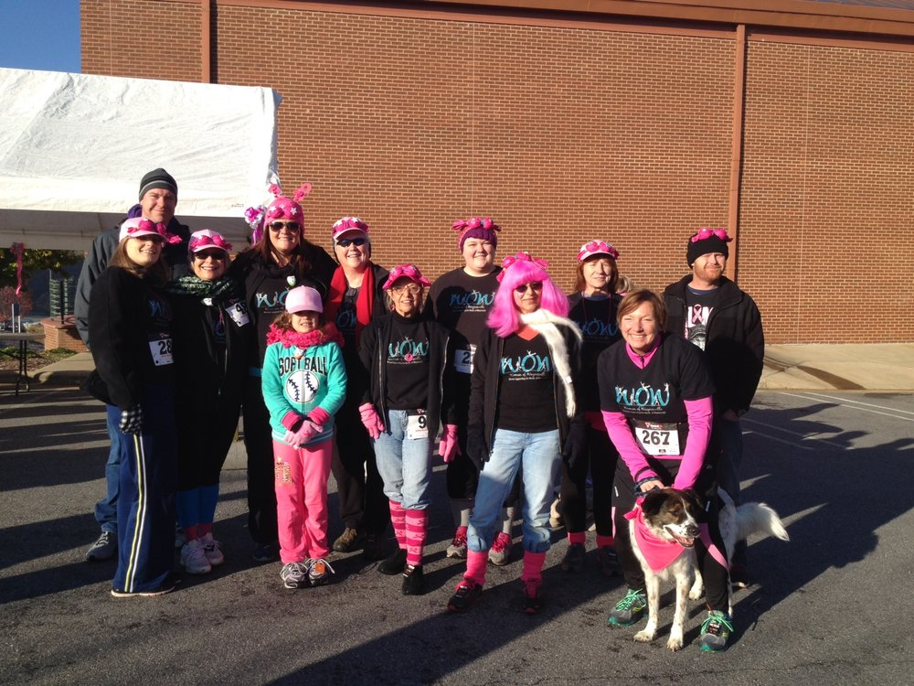 WOW runs in Power of Pink 5 K (Fight against Breast Cancer).JPG